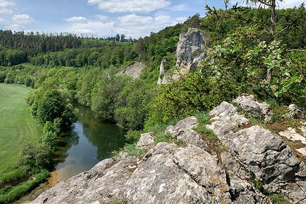 Blick vom Fels auf die Donau