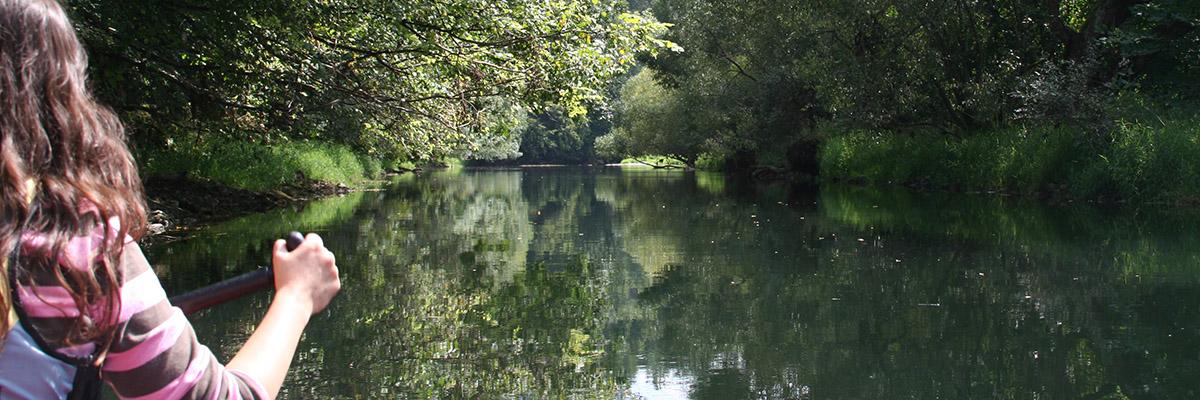 Mit dem Kanu auf der Donau